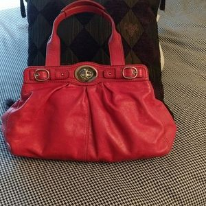 Red Coach Bag Leather